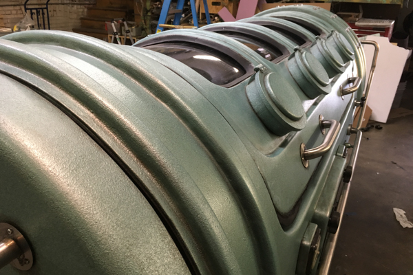Photos from the construction of the tank for The Shape of Water at Walter Klassen FX. Photo courtesy Charlie Katrycz