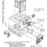 An early sketch of the Myhal Centre for Engineering Innovation & Entrepreneurship. (Image: Montgomery Sisam Architects & Feilden Clegg Bradley Studios)