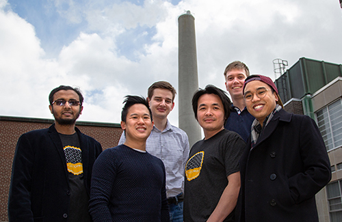 Members of U of T Engineering's CERT team, led by Alex Ip, second from left