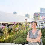 Professor Jennifer Drake (CivMin), an expert in stormwater systems, is pictured in the GRIT Lab green roof at U of T