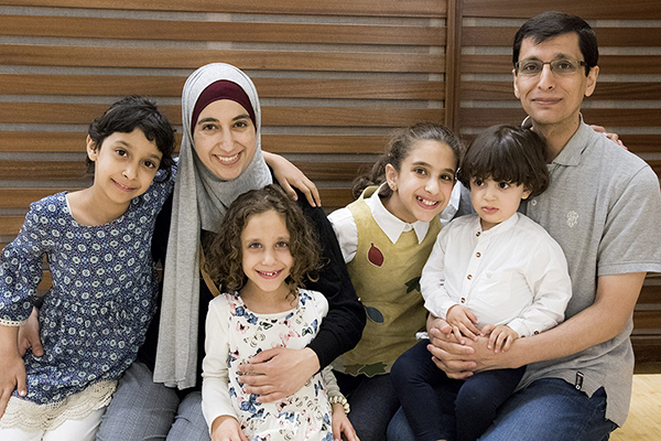 u of t engineering graduate student eman hammad with her family