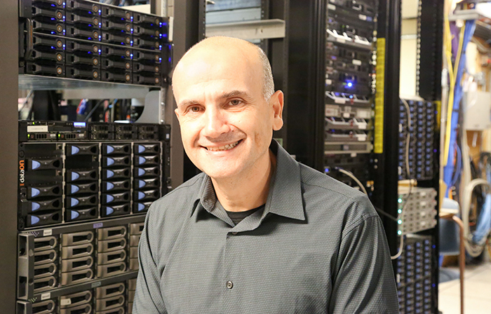 Professor Andreas Moshovos (ECE) leads the NSERC Strategic Partnership Network in Computer Hardware for Emerging Sensory Applications (COHESA), which is dedicated to making high-performance processors for machine learning and artificial intelligence. (Credit: Tyler Irving)