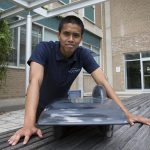 Next-generation Blue Sky Solar car is put to the (wind) test