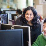 Professor Deepa Kundur (ECE, at centre) is one of 11 U of T Engineering researchers receiving investment from NSERC's Strategic Partnership Grants program. (Credit: Neil Ta)