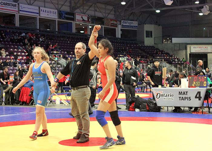 Kirti Saxena (MechE Year 1) wins 2018 Ontario Provincial Championships in the Juvenile Division. (Courtesy: Kirti Saxena)