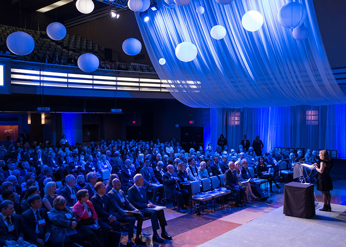 For the first time in its 29 years, the Arbor Awards were hosted off U of T property at the Carlu in downtown Toronto (photo by Gustavo Toledo Photography)