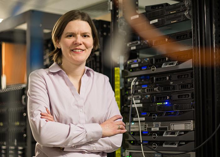 Professor Natalie Enright Jerger (ECE), a leading researcher in computer optimization, has been named an ACM Distinguished Member. (Credit: Roberta Baker)