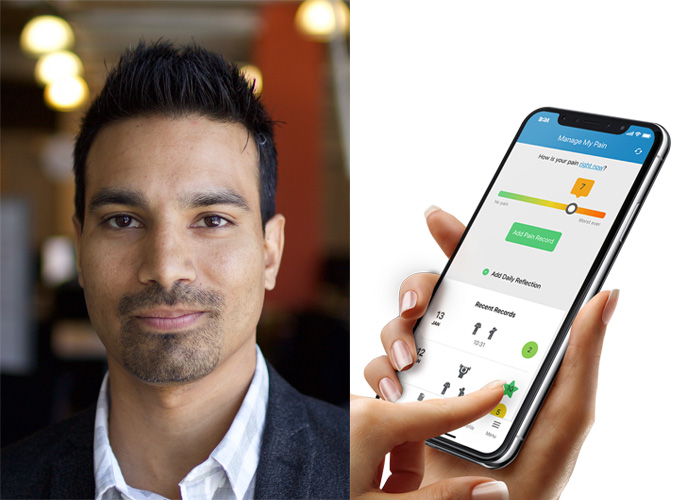 Tahir Janmohamed, founder and CEO of Managing Life. The company uses digital technology to increase the objectivity, quality and frequency of data on chronic pain. (Photos courtesy Managing Life)