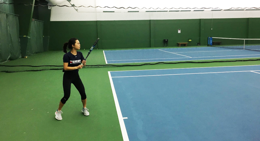 Kimberly Lai (Year 4 EngSci) is passionate about tennis and makes the sport a vital part of her strategy for keeping healthy both mentally and physically. (Courtesy: Kimberly Lai)