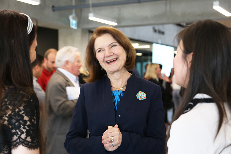 Dean Cristina Amon at the 12th annual Celebrating Engineering Excellence event. (Photo: Liz Do)