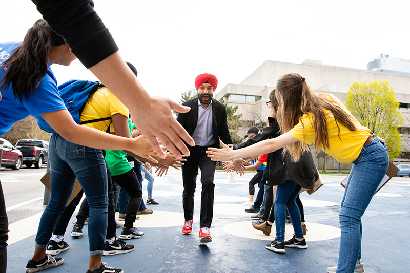 The Honourable Navdeep Bains, Minister of Innovation, Science & Economic Development, at Go North Youth. (Photo: Roberta Baker)