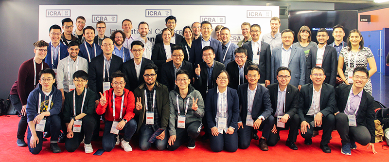 Forty members of the Robotics Institute attended the 2019 IEEE International Conference on Robotics and Automation (ICRA) in Montreal, Que., one of the most prestigious venues for global robotics research. (Photo courtesy of the Robotics Institute)