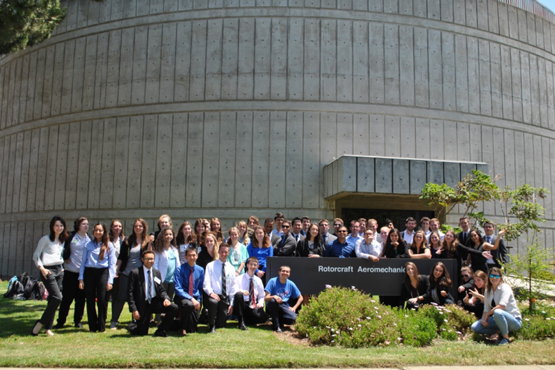 The aeromechanics interns in front of their building. (Photo: Saanjali Maharaj)