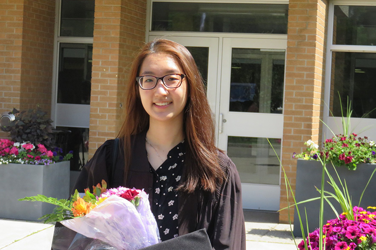 Jane Hwang finished high school with a bang, having to do her school and piano exams at the same time (photo courtesy of Jane Hwang)