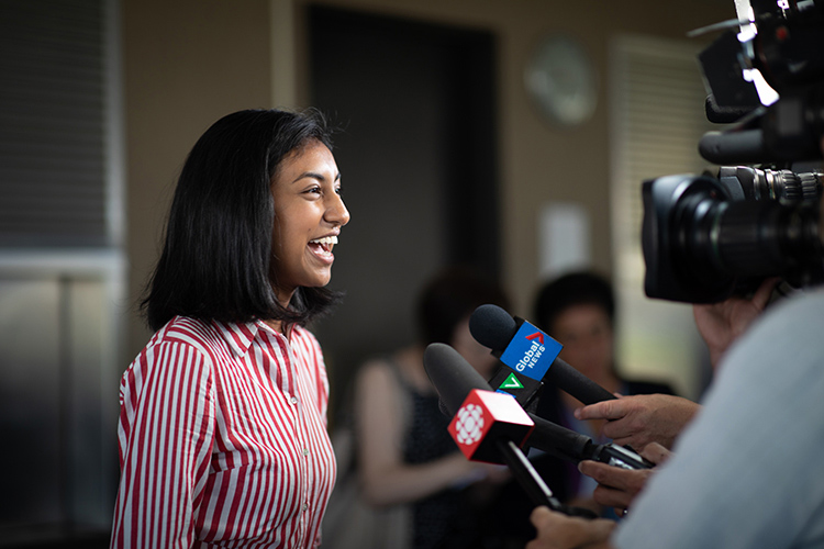 Khalesah Alli says she wants to fine-tune her study methods at U of T (photo by Lisa Lightbourn)