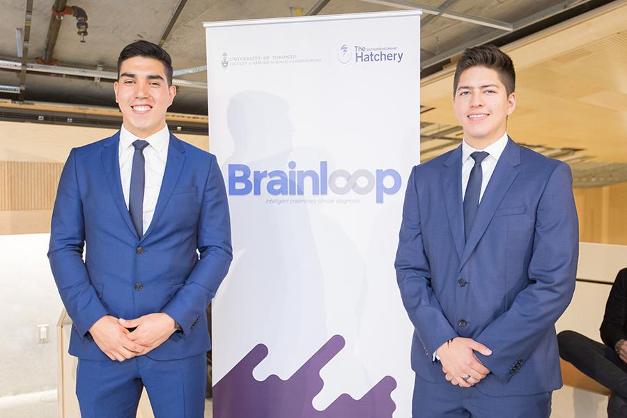 Brainloop members Juan Egas and Esteban Arellano. (Photo: Ben Ouyang)