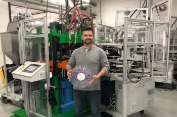 The vinyl renaissance continues — sales of vinyl records have grown every year for at least a decade, and may now have eclipsed sales of CDs. But if you want to start up a new label, there are only two companies in the world from whom you can buy your vinyl pressing machinery. Etobicoke-based Viryl Technologies is one of them. Founded by James Hashmi, Chad Brown and U of T Engineering alumnus Rob Brown (MechE 0T0), the company has more than 50 presses in operation around the world. Artists whose records have been pressed with Viryl's machines include country singer Eric Church — both he and Viryl were recently featured in a Ram commercial.