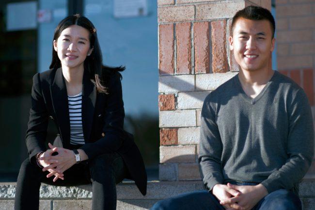 Honeybee Hub co-founders Weiwei Li (left) and Catherine Chan (right).