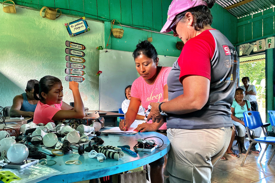 The community school in Cerro Azul, Costa Rica has plenty of donated electronic equipment, but currently relies on a gasoline-fuelled generator. A solar array could provide more consistent, reliable power. (Photo: John Shoust)