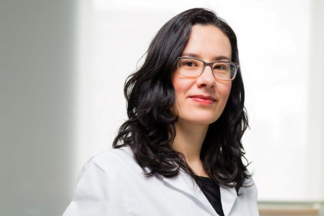 Milica Radisic (ChemE, IBBME) is working with Axel Guenther and Edmond Young (both MIE) to create tiny models of the nose, mouth, eyes and lungs to better understand how COVID-19 infects organs. (Credit: Neil Ta)