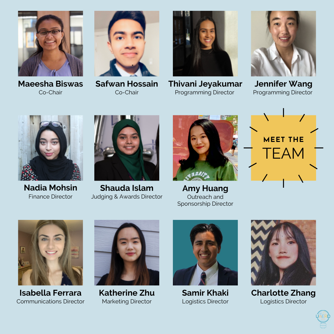 UnERD 2020 organizing team. (Image courtesy Katherine Zhu)