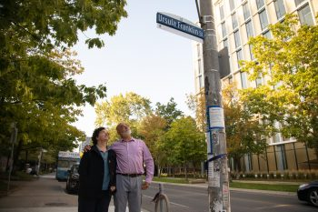 Image link to 'An outstanding scholar and a beloved teacher': U of T holds Ursula Franklin Street renaming ceremony