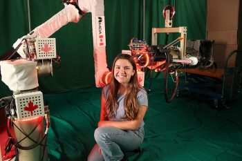 Image link to 'My dream job': How a PEY Co-op student is helping develop a new generation of autonomous space robots