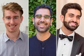 Image link to Three U of T Engineering students earn national scholarships for advanced materials, neuromodulation and heart modelling research