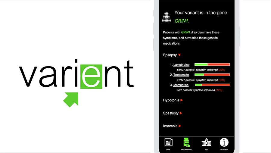 Varient is a platform that aggregates data about off-label use of medicines for the treatment of rare diseases. (Image courtesy: Varient)