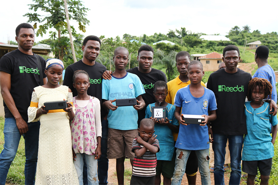 Reeddi Capsules are deployed to over 600 households and businesses in Ayegun, Nigeria. The company has a goal of reaching 12,000 in the coming months. (Photo courtesy Olugbenga Olubanjo)