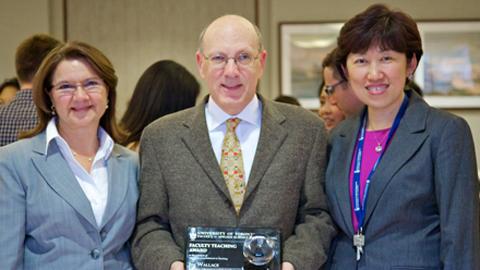 Dean Cristina Amon, Professor Jim Wallace and Professor Jean Zu, Chair, MIE.