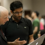 Andy Byford working with U of T Engineering students on campus