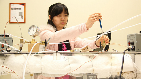 Graduate student Rachel Song
