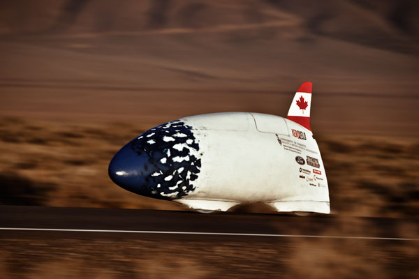 Bluenose, another human-powered vehicle build by the U of T Engineering students and alumni, also raced at this year's competition. (Photo: AeroVelo)