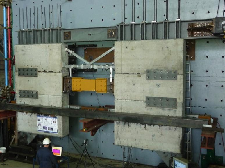 a viscoelastic coupling damper being tested