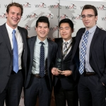 World Mining Competition champions Matthew Hart, Daryl Li, Seung Young Baek, and Peter Miszkiel