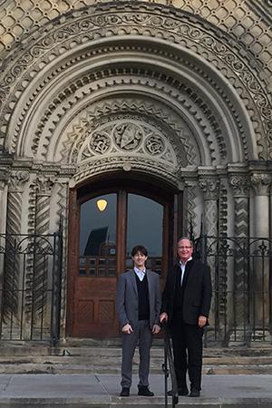 Professor Giovanni Grasselli with FCMG President Duke Anderson in October 2015. (Courtesy: FCMG)