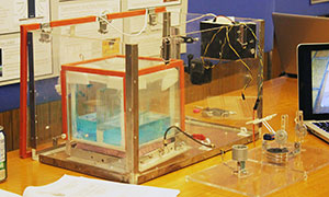 One of three experiments designed by IMDI students that can be conducted in microgravity on a sub-orbital aircraft. (Photo:Liz Do)