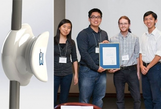 Better mop design wins safety award for U of T Engineering students