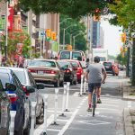 A U of T Engineering research team led by Professor Matthew Roorda (CivE) are assessing the safety impact of Bloor Street bike lanes. (Photo by Dylan Passmore via Flickr).