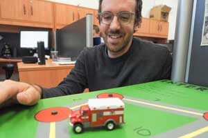 Justin Boutilier (MIE PhD candidate, pictured) and Professor Timothy Chan (MIE) are researching ways to close the emergency medical services gap in developing countries like Bangladesh. (Photo: Roberta Baker)