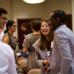 Each fall, students in the University of Toronto's Institute for Multidisciplinary Design and Innovation (UT-IMDI) share the results of their industry-sponsored projects at an evening reception. (Photo: George Almaria)