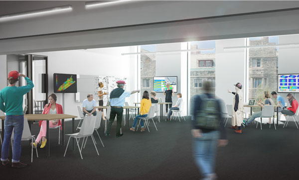 TEAL rooms can be quickly and easily rearranged to meet the needs of any learning activity. (Image courtesy Montgomery Sisam Architects & Feilden Clegg Bradley Studios)