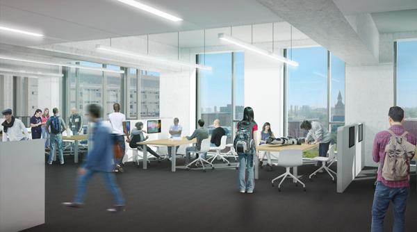 The Heffernan Hatchery Suite will enhance the rich culture of entrepreneurship at U of T Engineering. (Image courtesy Montgomery Sisam Architects & Feilden Clegg Bradley Studios)