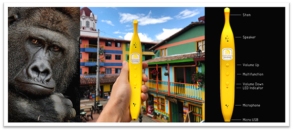 Katrycz is also part of the team that created the Banana Phone. (Photo courtesy Banana Phone)