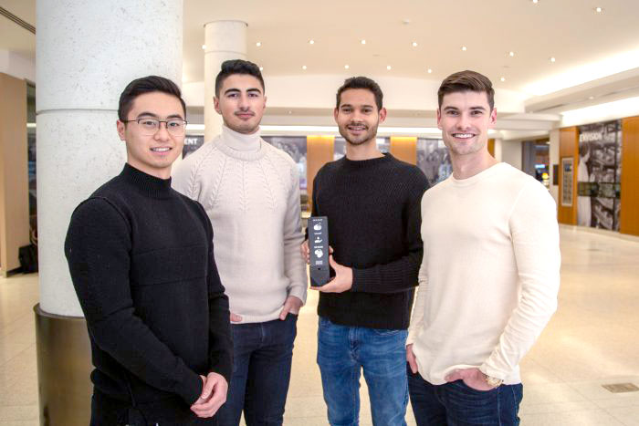 The creators of the Fian Bar, from left: Michael Wu, Parham Chinikar, Marawan Gamal and Luke Kyne (Photo: Erin Howe)